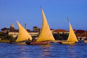 Dhows off Stonetown, Zanzibar