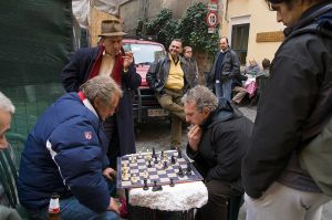 Streetside chess.
