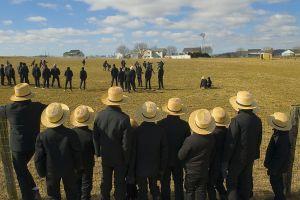 Amish Boys watch football