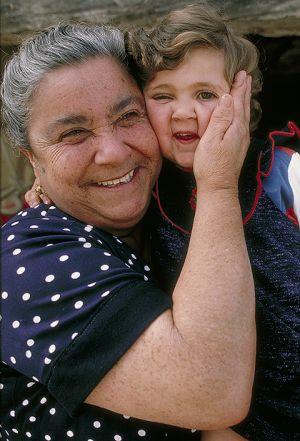 Grandma and granddaughter in Malta