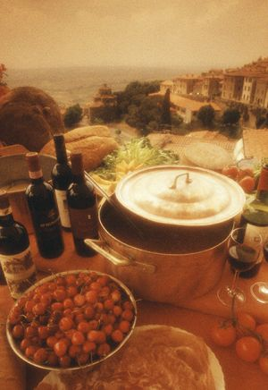 Food display in Cortona