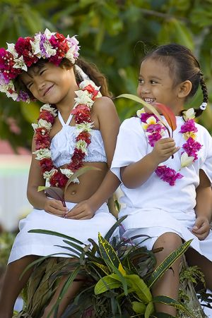 Tickling girls on Bora Bora