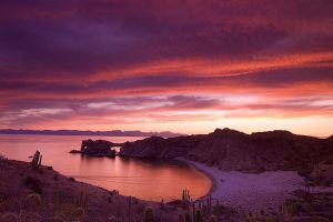Sunset over Baja