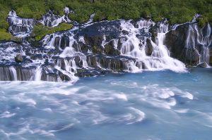 Hraunfoss Waterfall, Iceland