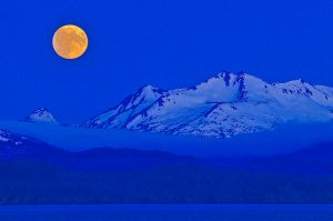 Moonrise from Homer, Alaska