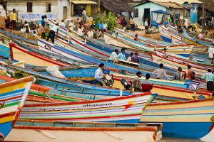 Vizhinjam fishing village.