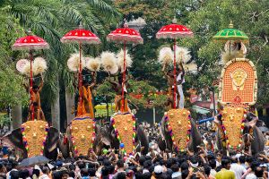 Pooram festival in Thrissur