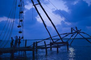 Twilight fishing at Kochi