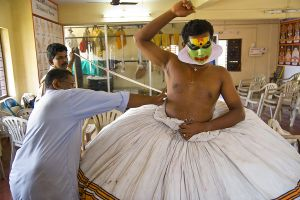 Dressing for Kathakali