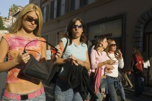 Fashionistas on Via Condotti.