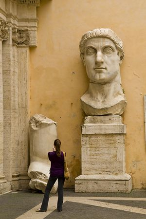 The colossal head of Constantine