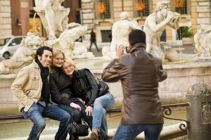Relaxing in Piazza Navonne