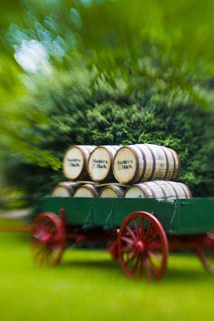 Barrels at Makers Mark distillery.