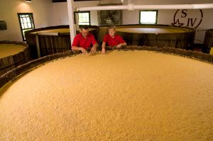 Mash vats at Makers Mark.