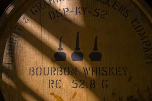 Barrel at Woodford Reserve Distillery.