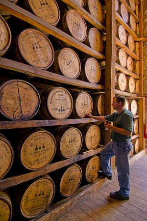 Sampling at Woodford Reserve Distillery