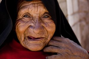 Old woman on Taquile Island, Lake Titicaca