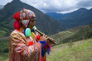 Musician near Urumbamba