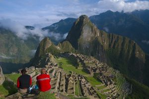 Hikers at Machu Picchu